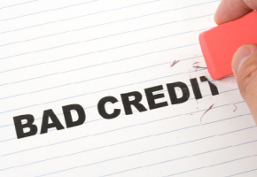 Erasing bad credit with a rubber