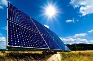 sun-shining-on-solar-panel