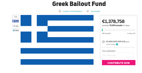 Greek bailout fund indiegogo