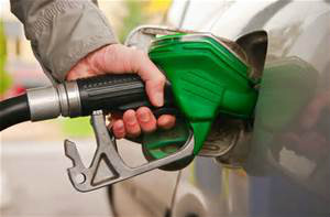 Filling up car at petrol station