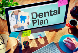 Words Dental Plan on Computer Screen