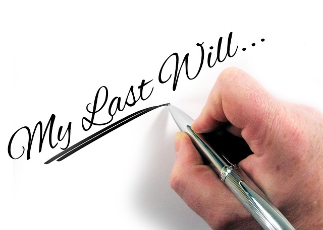 Hand writing words My Last Will