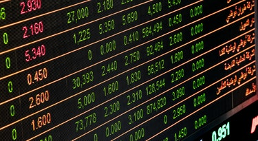 trading prices at stock exchange