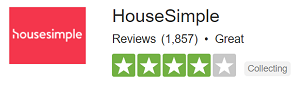 HouseSimple rated as 'Great' on popular review site TrustPilot based on 1,857 reviews