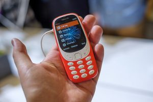 Orange Nokia 3310 dumbphone
