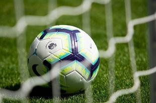 Premier League football in net