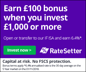 Ratesetter £100 signup bonus offer