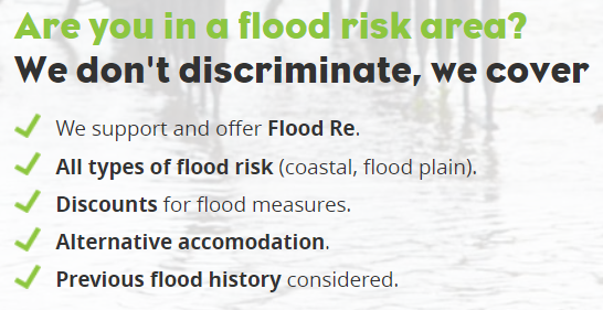 HomeProtect Specialist Flood Home Insurance benefits