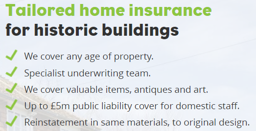 HomeProtect Specialist Historic Building Insurance benefits