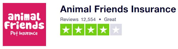 Animal Friends Trustpilot Score